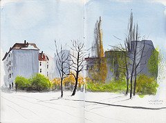 Wismarplatz in Spring Sun