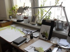 My workspace while doing all this. Out of the picture to the right is my iMac showing reference pictures I took on site.