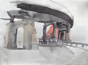 14 June, watercolor and gouache, 25 x 35 cm, 250 €.
