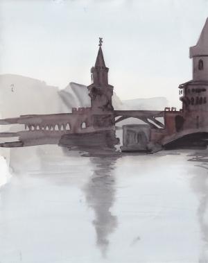 15 June, watercolor, 35 x 25 cm, 250 €.