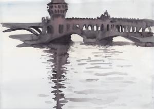15 June, watercolor, 25 x 35 cm, 250 €.