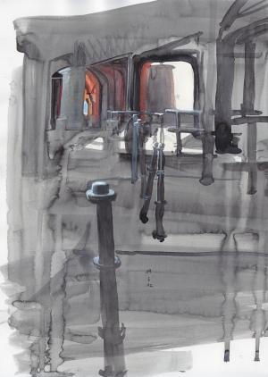 19 June, watercolor and gouache, 35 x 25 cm, 250 €.