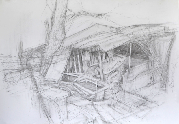 Gardenshed ( 70 x 100 cm, aprox. 1.3 months of living in London or 2000 €).