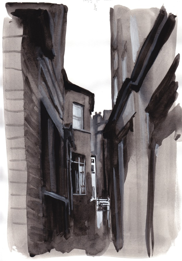 Longing for London, 2 August 2013, watercolour on paper, 29 x 21 cm.