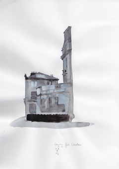 Longing for London, watercolour on paper, 29 x 21 cm.